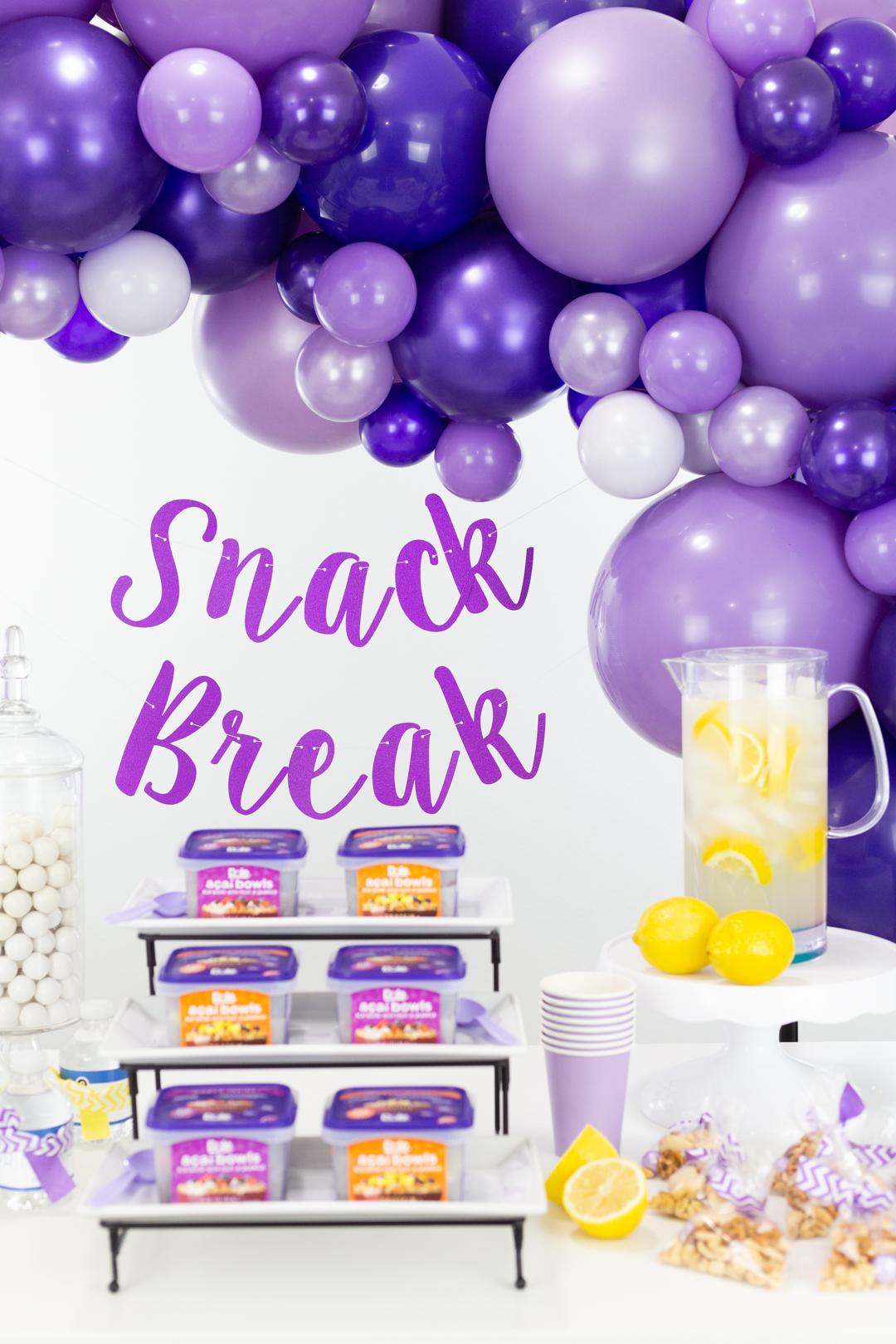 snack break bar ideas
