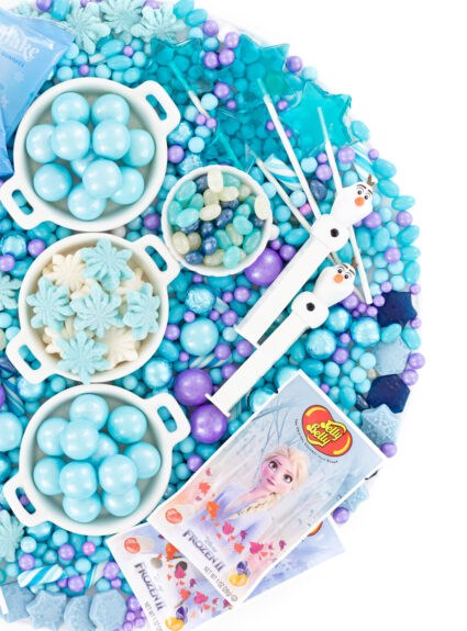 pretty purple and blue candy tray