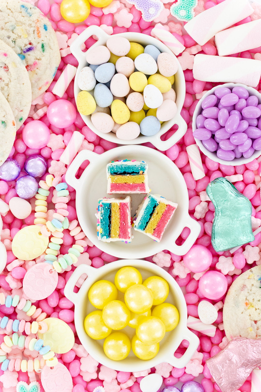 up close easter candy trays