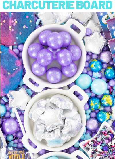 pretty outer space candy board