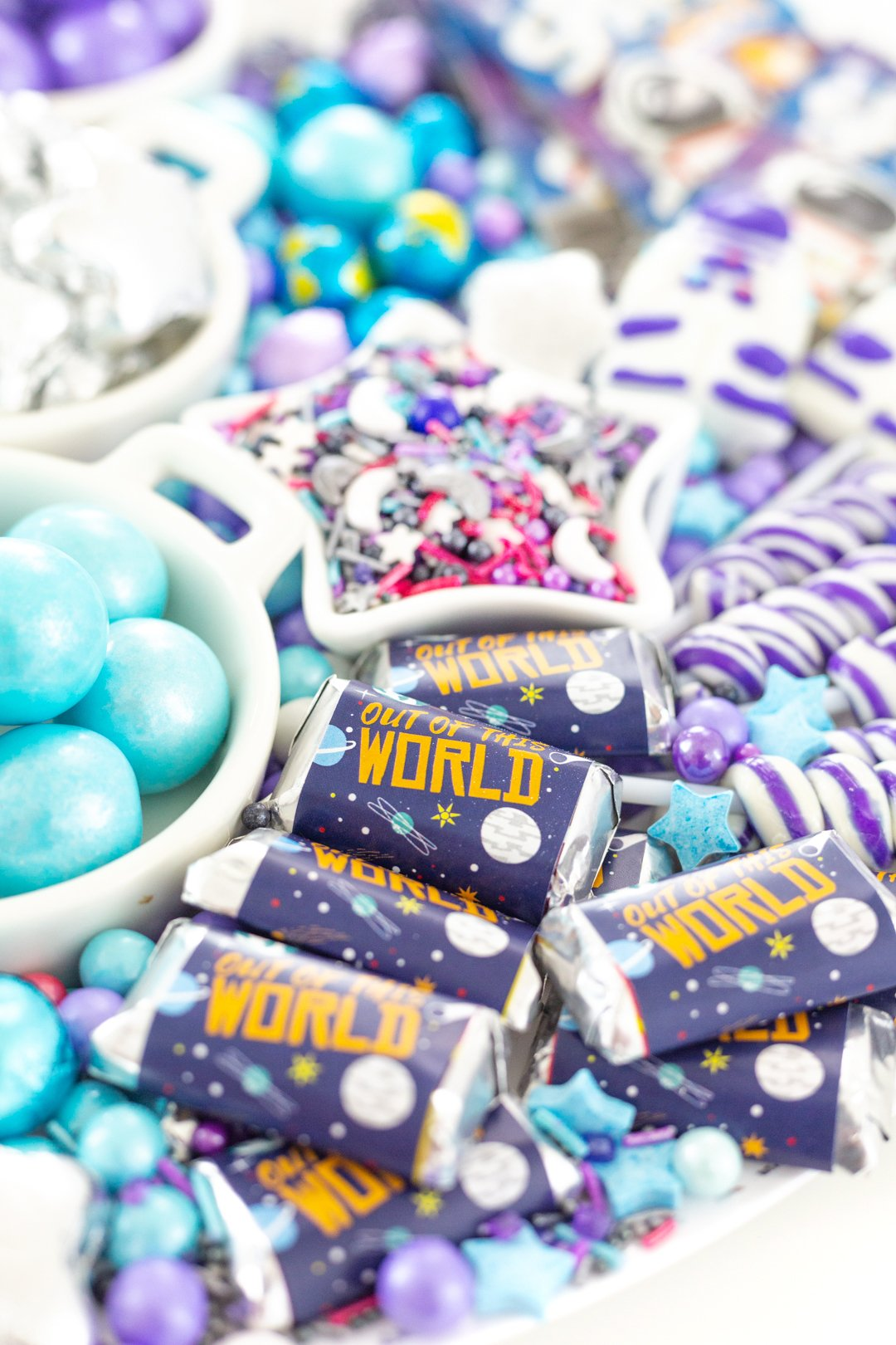 out of this world candy wrapper for chocolates galaxy parties