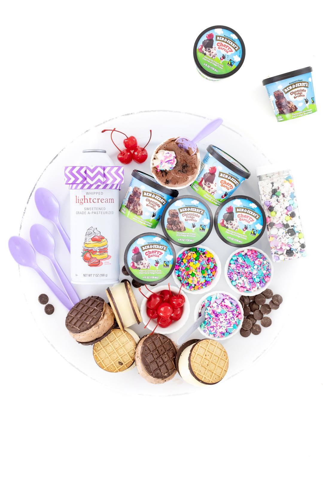 tray of ice cream treats