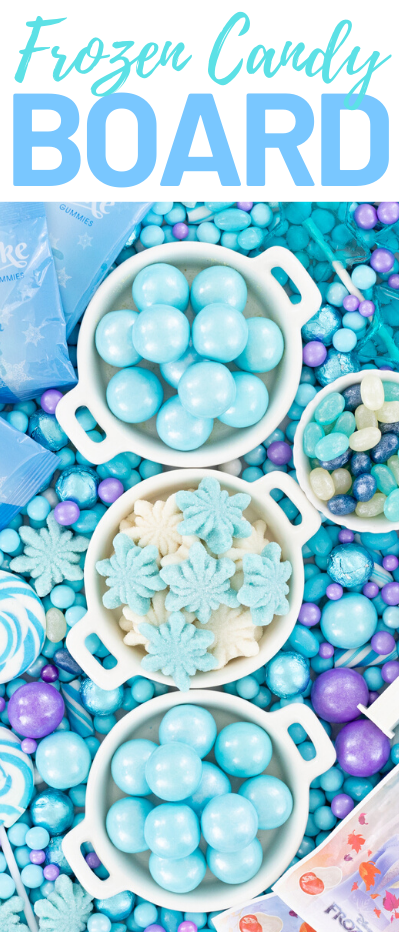 Candy Board to celebrate Frozen Movies! Perfect party ideas.