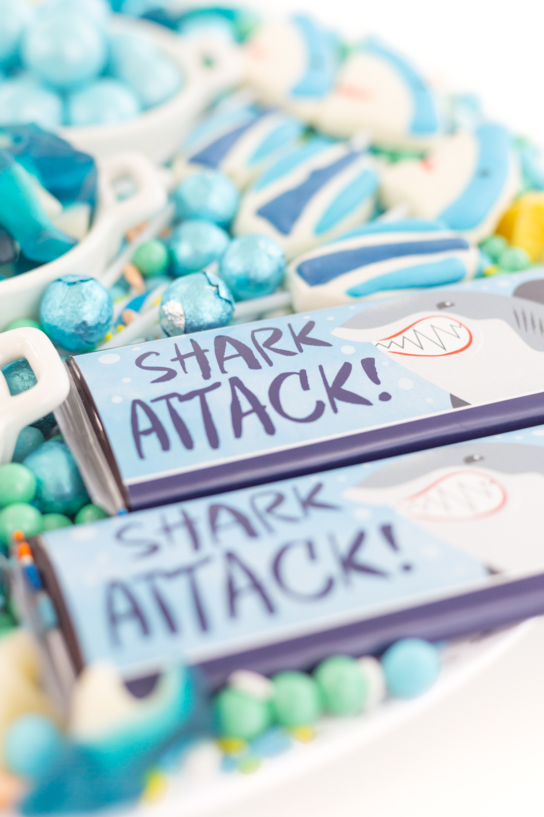 shark attack candy bar wrappers