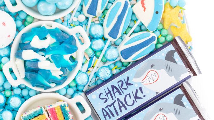 Shark Candy Charcuterie Board