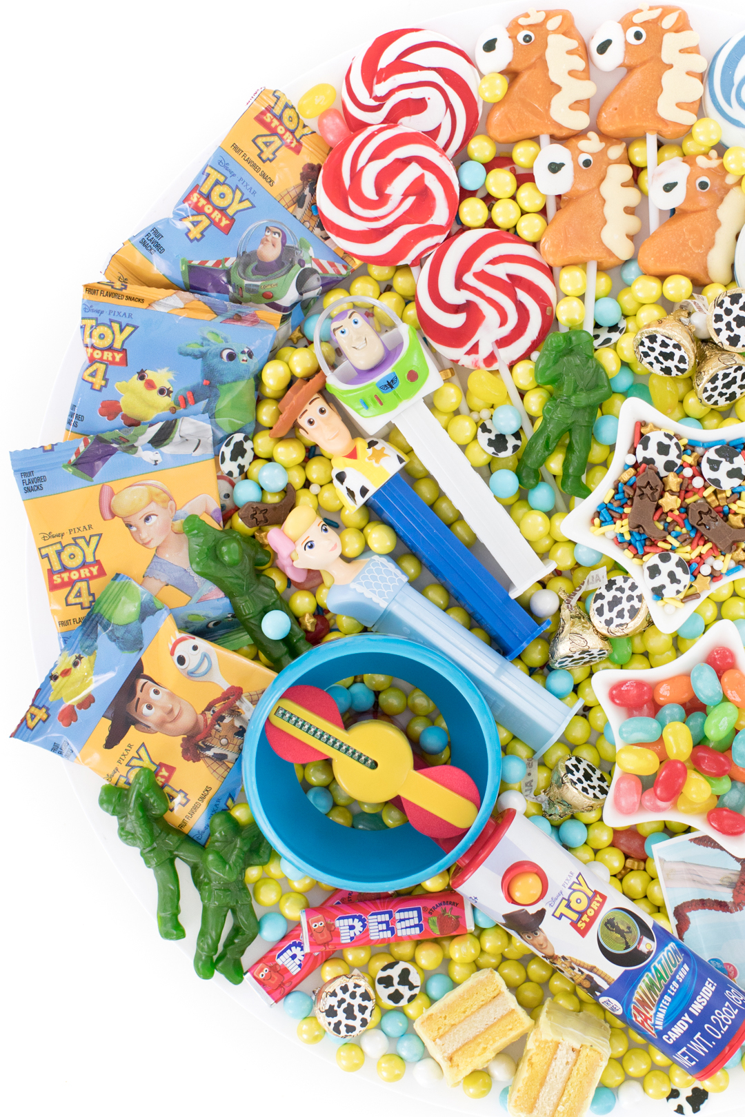 cute display of toy story treats for kids