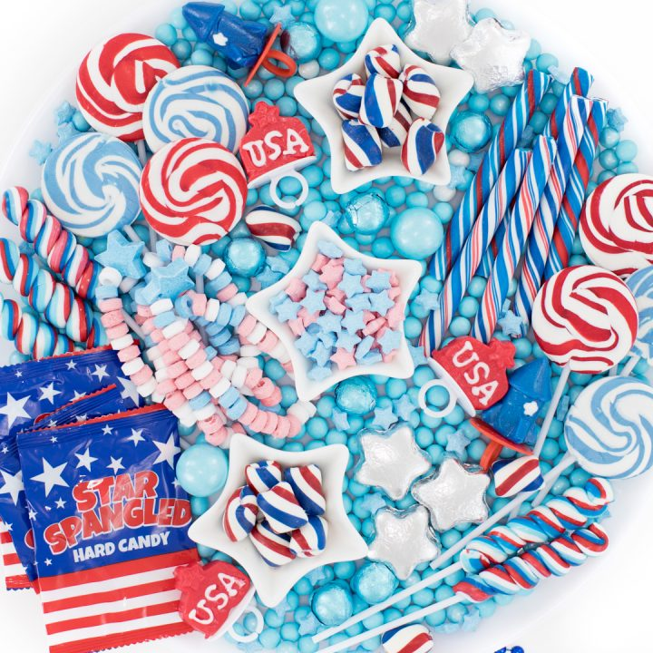 Red, White & Blue Candy Board