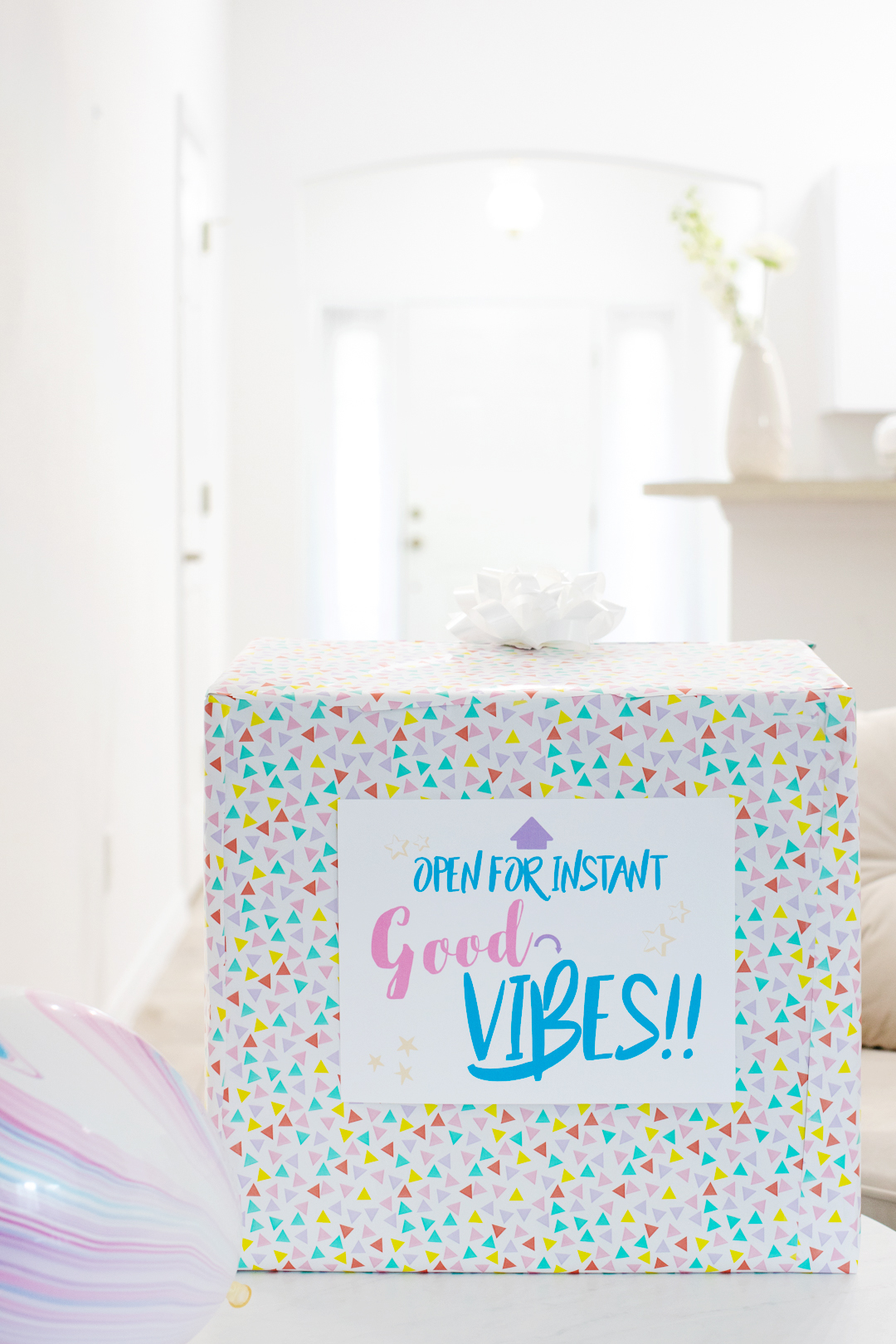 good vibes in a box diy gift idea