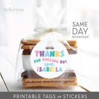 Personalized Treat Favor Tags Printable