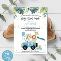 Editable Drive By Baby Shower Invitation