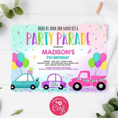 No Contact Drive By Party Car Parade Ideas Cutefetti