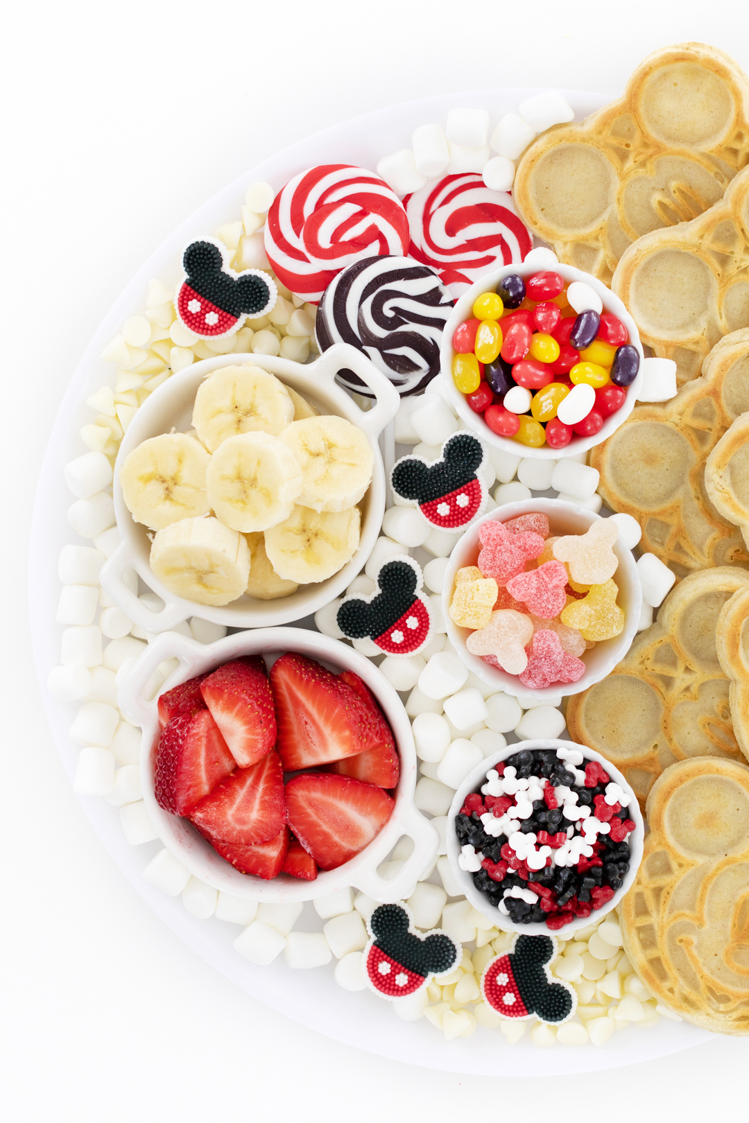 waffle bar toppings for a mickey mouse themed breakfast