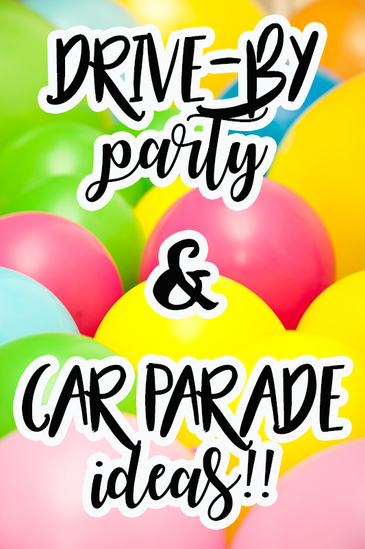 drive by party ideas pin image