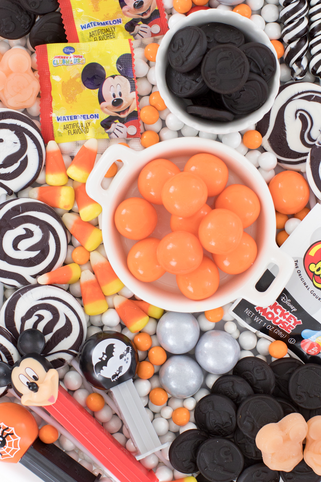 Orange and Black Halloween Candy Platter