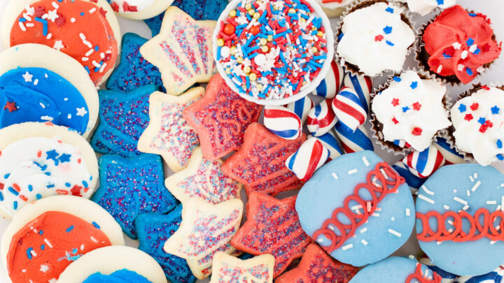Easy Red, White and Blue Dessert Board