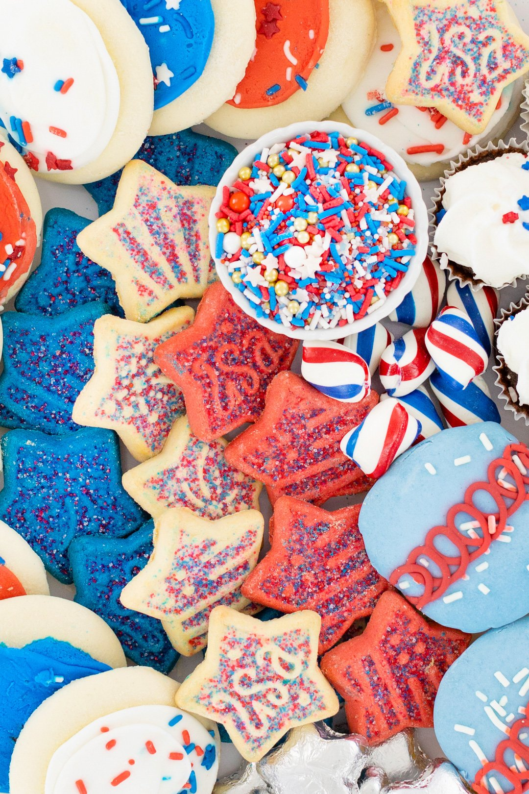Star-shaped cookies for 4th of July.