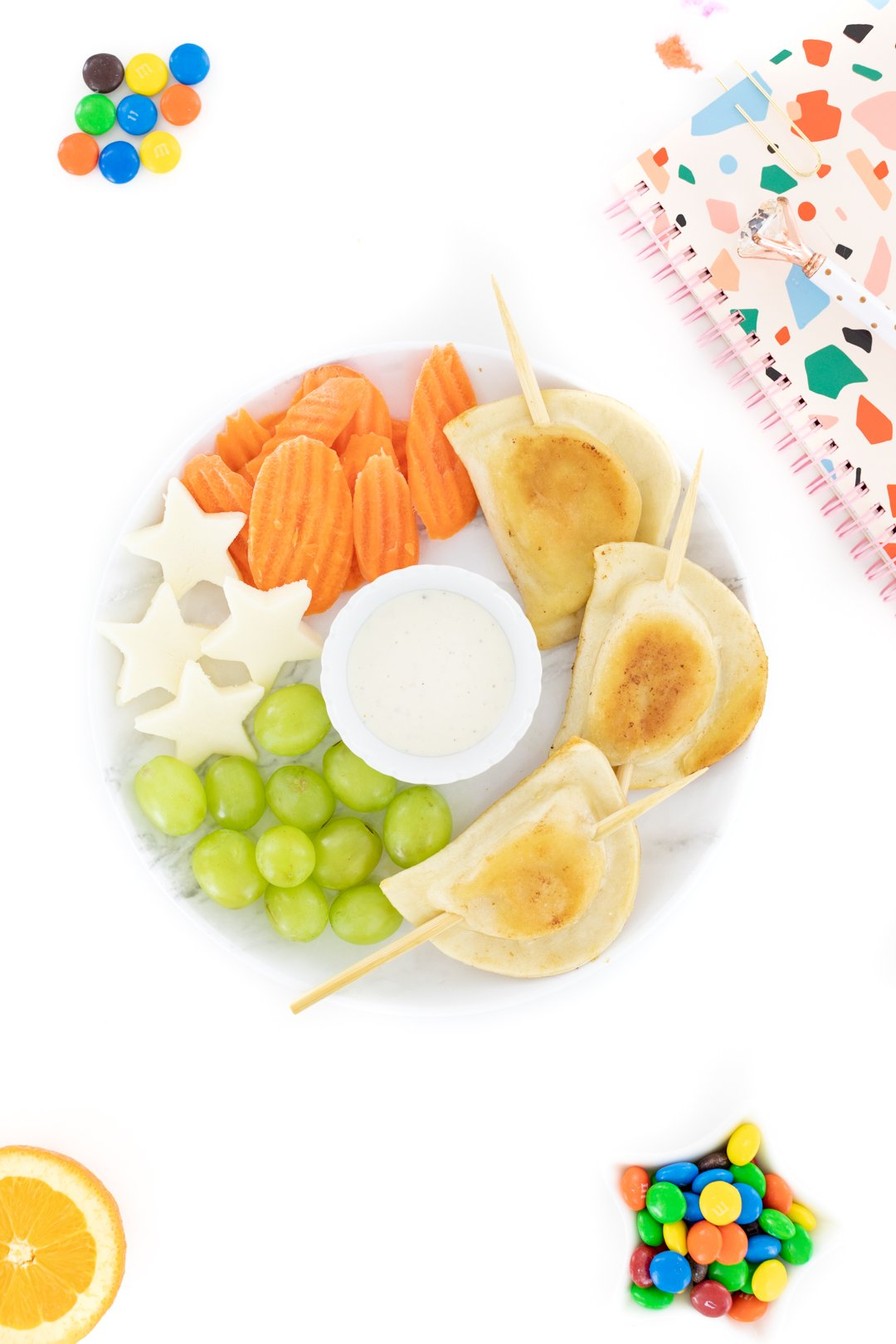 fun snack for kids with pierogies