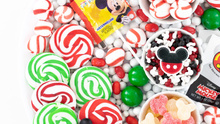 Mickey Christmas Candy Board