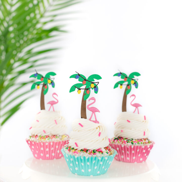 palm tree cupcakes for christmas