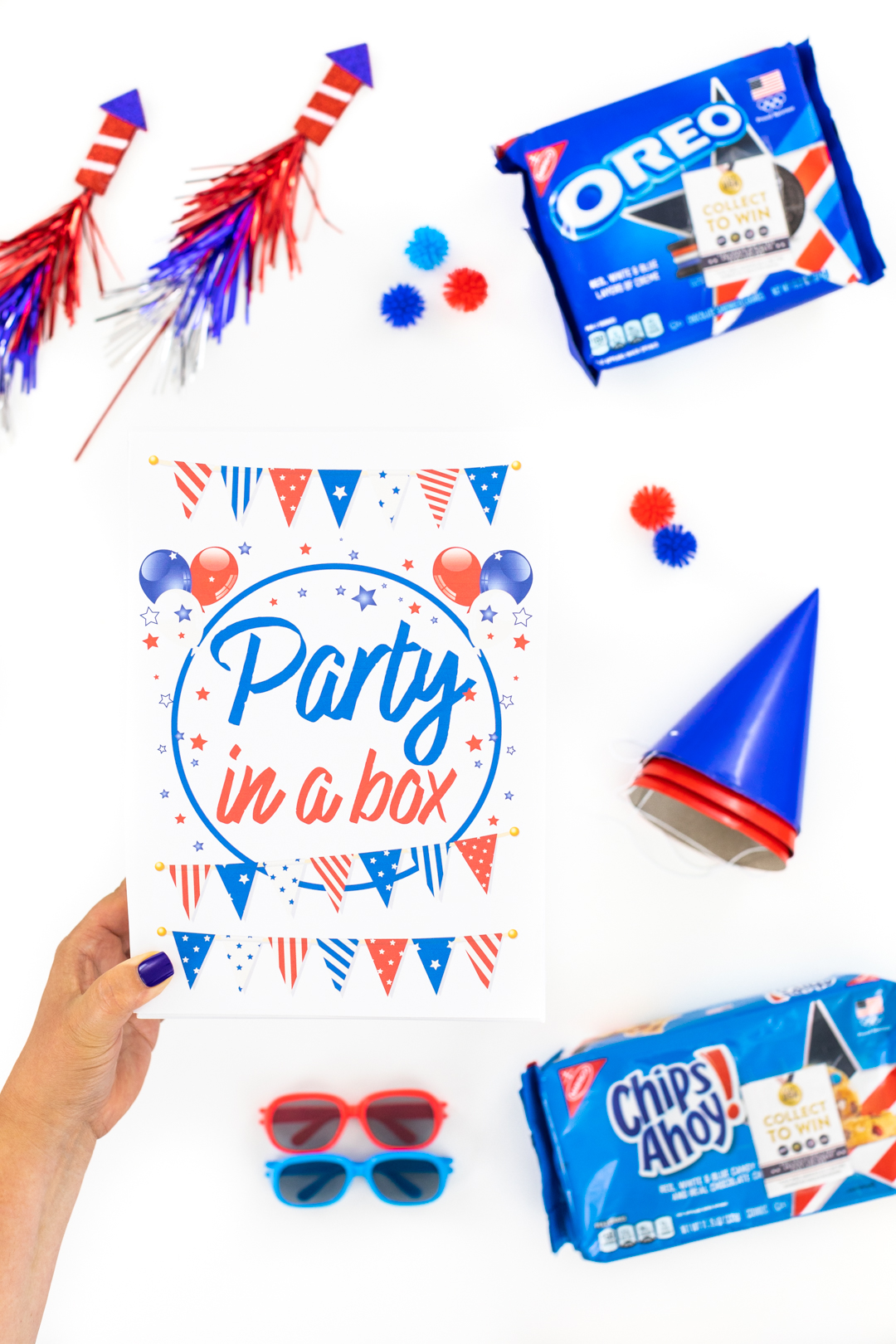 party in a box filled with fun goodies for an easy diy gift