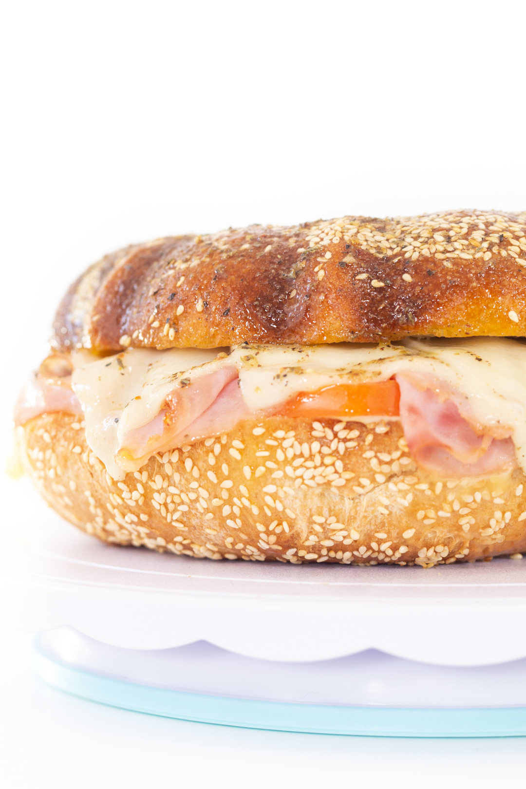 party sandwich with ham and swiss cheese