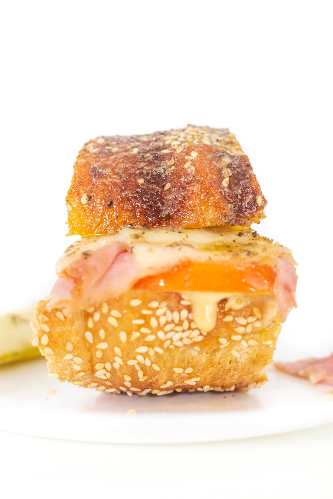 ham and cheese party slider