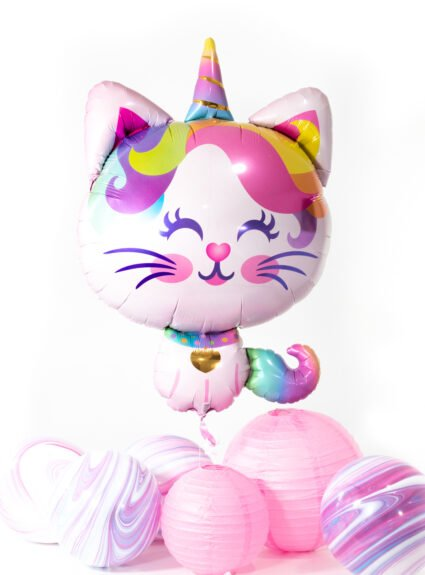 caticorn mylar balloon for caticorn themed parties