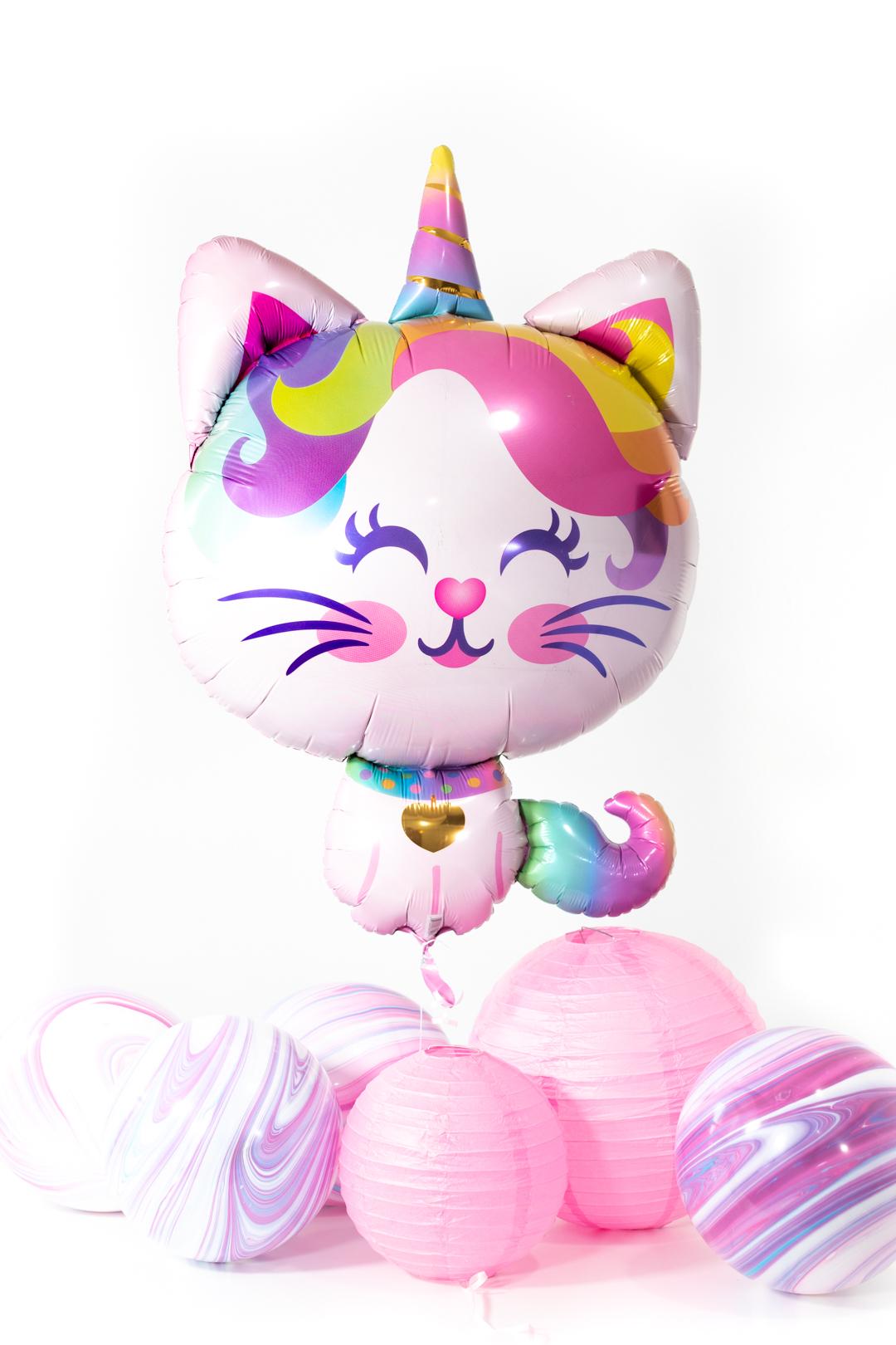 caticorn mylar balloon for caticorn themed parties