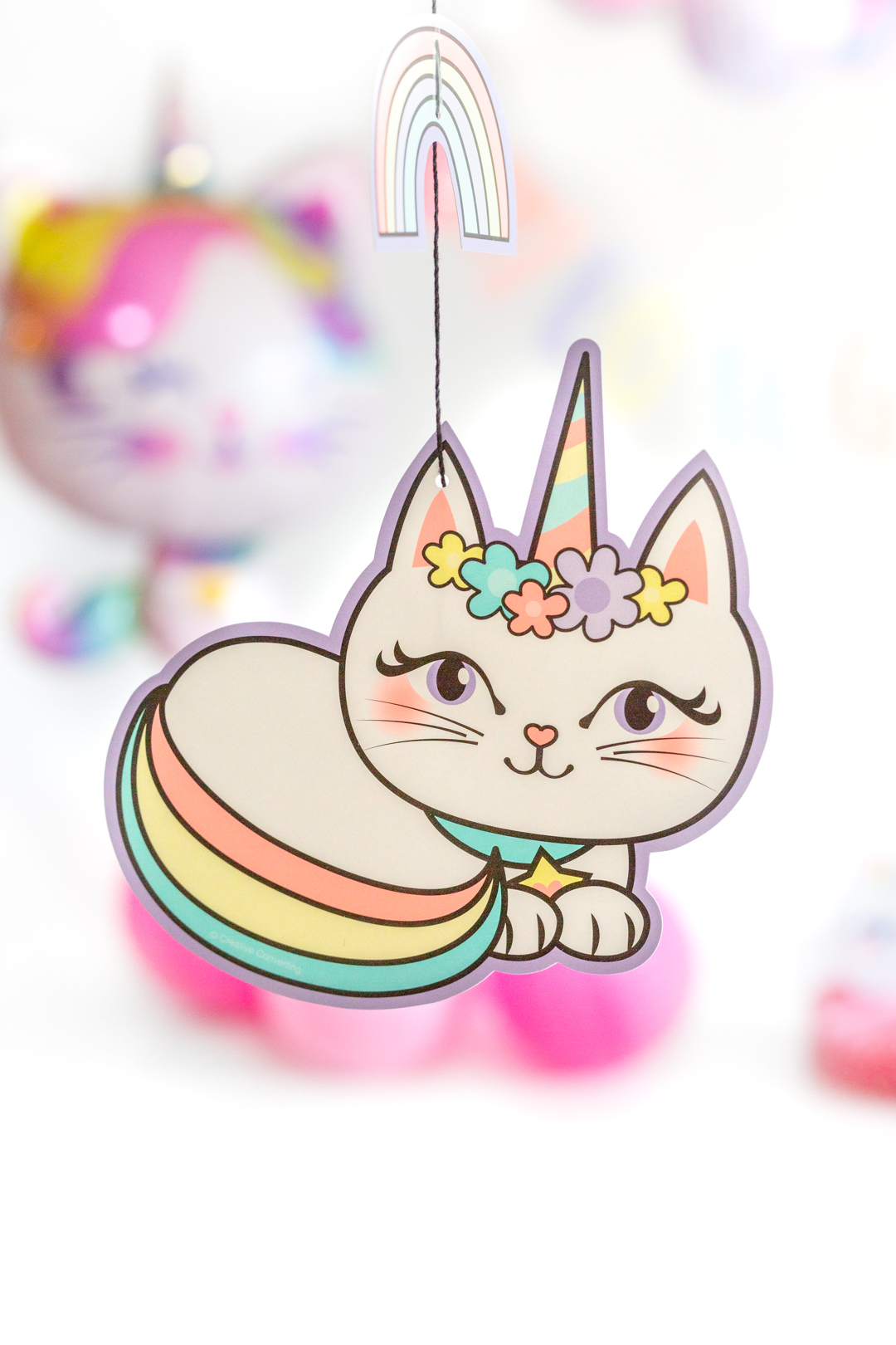 caticorn hanging decoration for parties