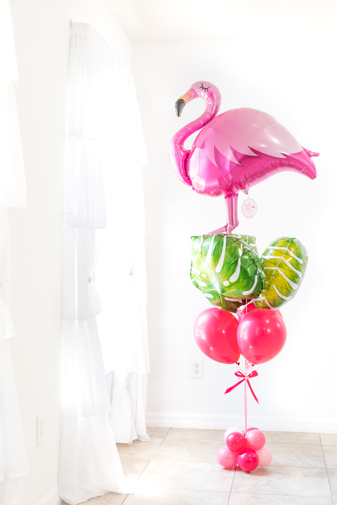 you've been flocked - surprise balloon delivery