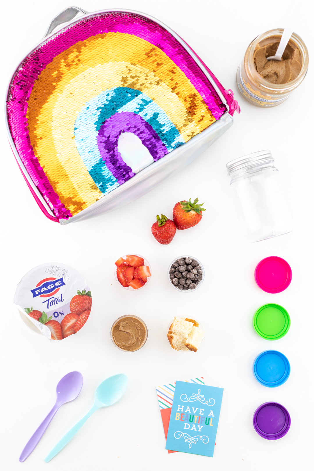 diy yogurt parfait kit for kids with toppings put into little separate containers