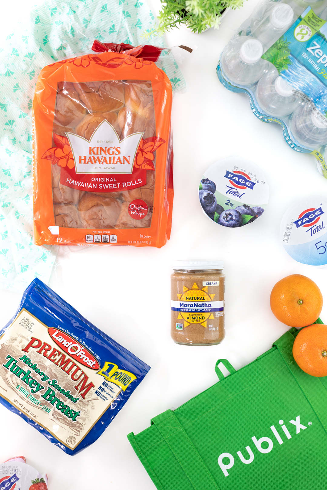 easy lunch ingredients for kids from publix. Publix green shopping bag.