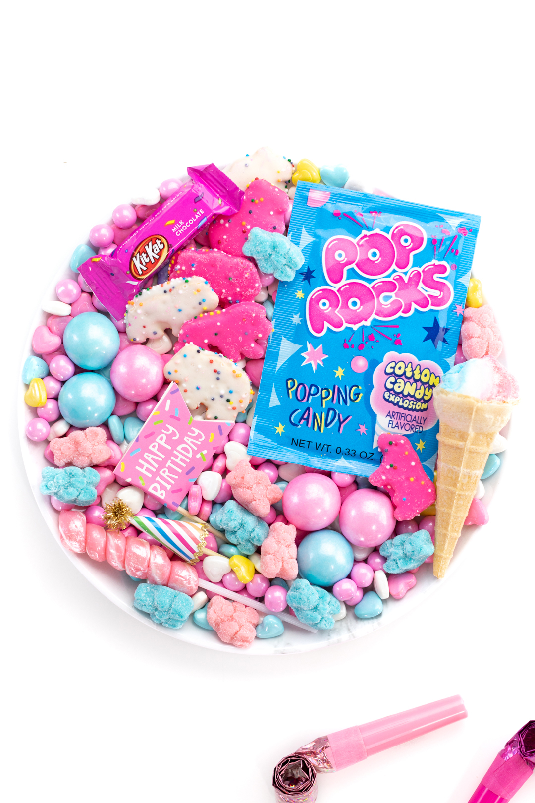 trendy candy board for one person filled with fun happy candy