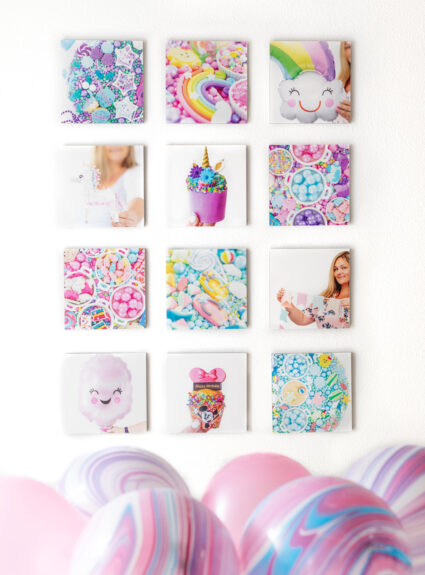 wall art display made with Instagram photos