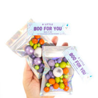 mini boo bags for halloween with iridescent bags