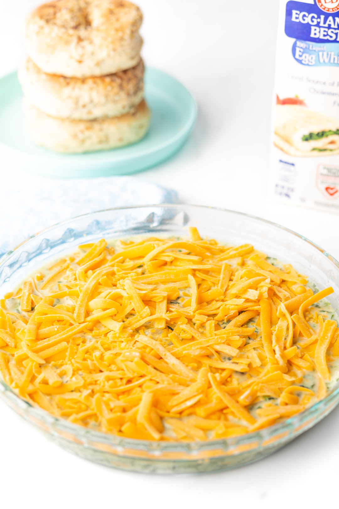 cheese topped egg casserole