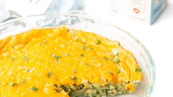 Creamy Spinach Egg Casserole