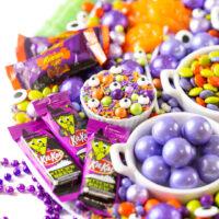 Witch Kit-Kat, Reese's Pumpkins, Halloween Sprinkles.