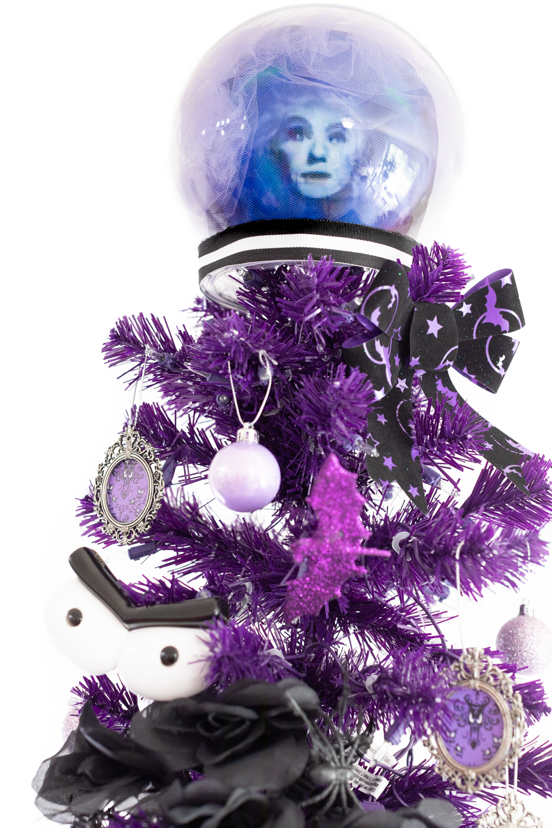 madame leota diy crystal ball christmas tree topper