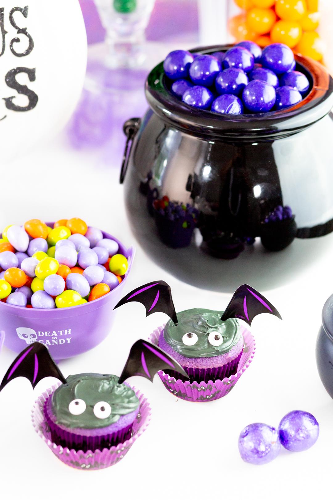 bat cupcakes using wilton's baking kit