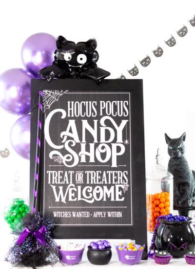hocus pocus trick or treat sign