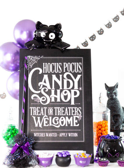 hocus pocus trick or treat sign