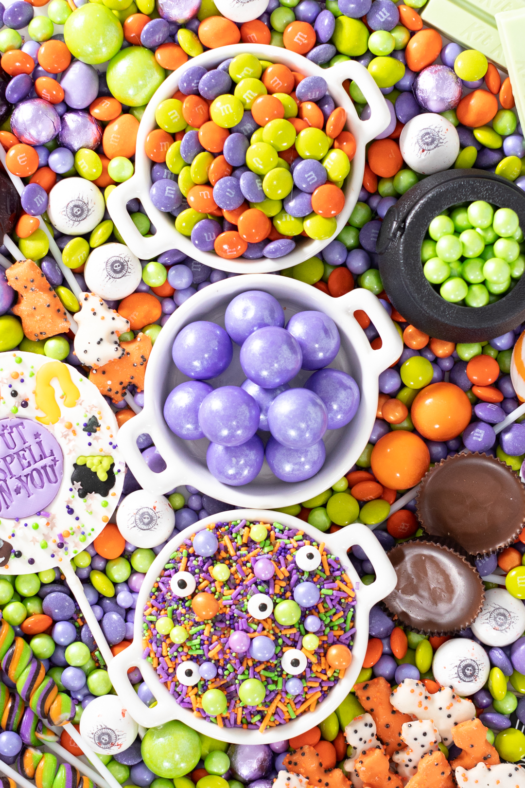 candy up close. halloween sprinkles, gumballs, M&Ms and more.