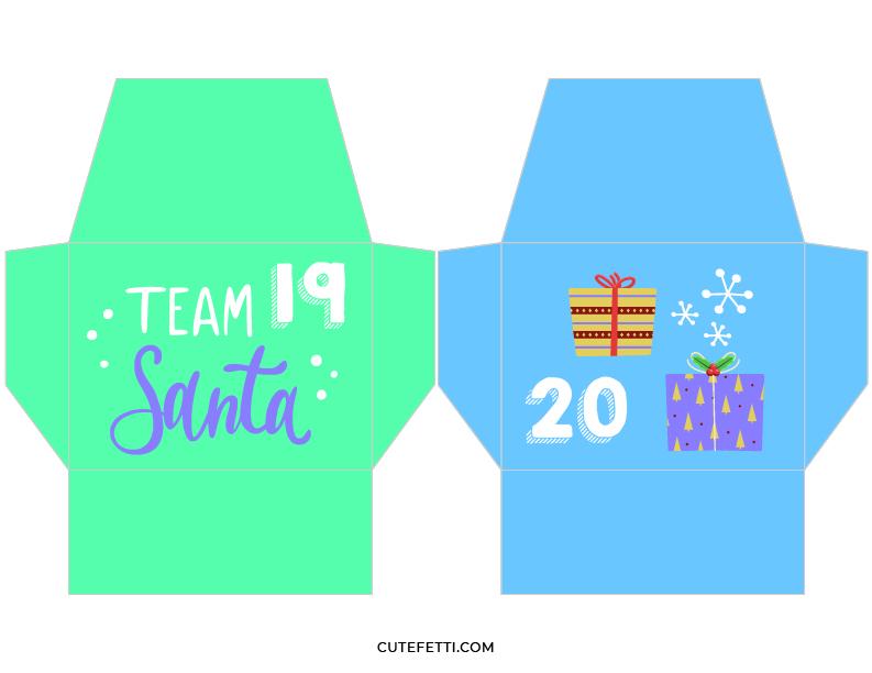 cute printable envelopes for christmas countdown