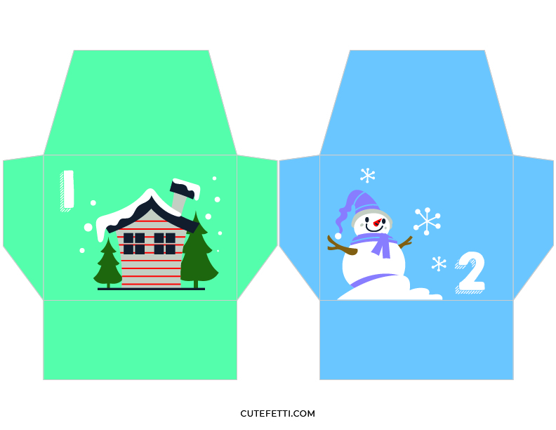 envelopes that can be printed to hold goodies to reveal as you countdown to christmas