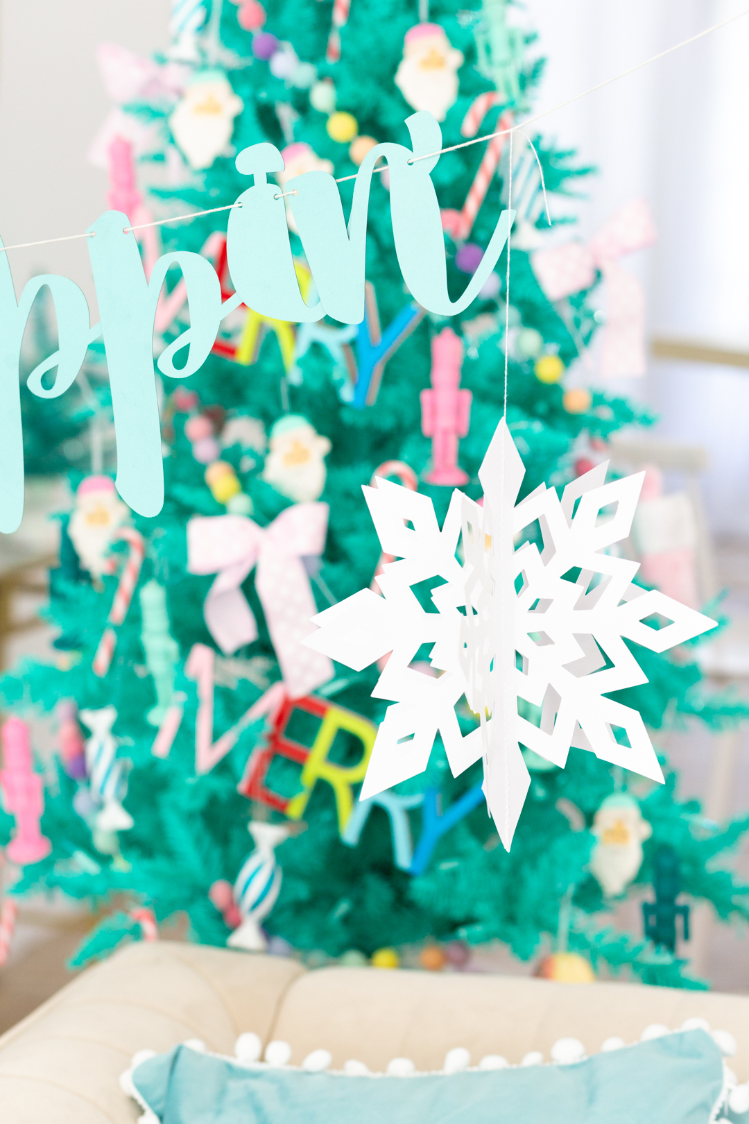 snowflake decoration for christmas party