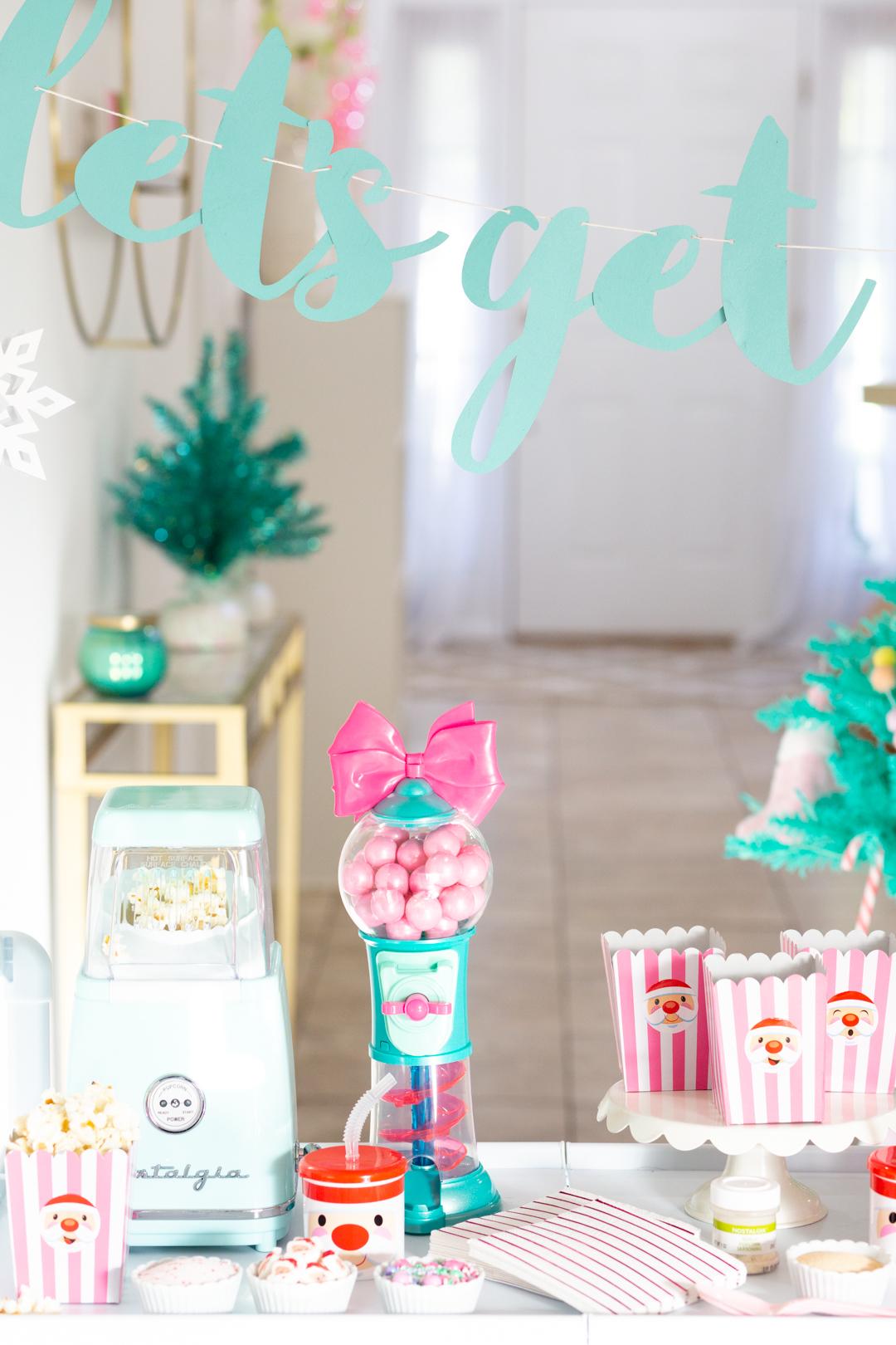 pretty holiday movie-night party