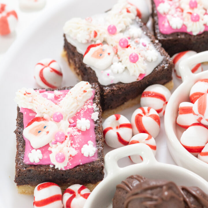 adorable ugly sweater brownies brookies with vintage santa vibe