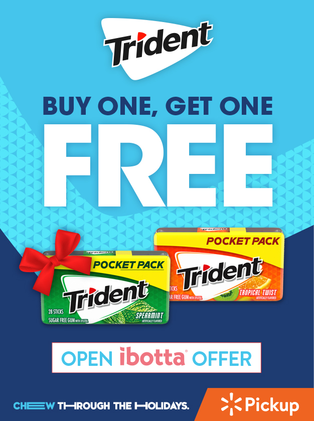 ibotta offer from trident