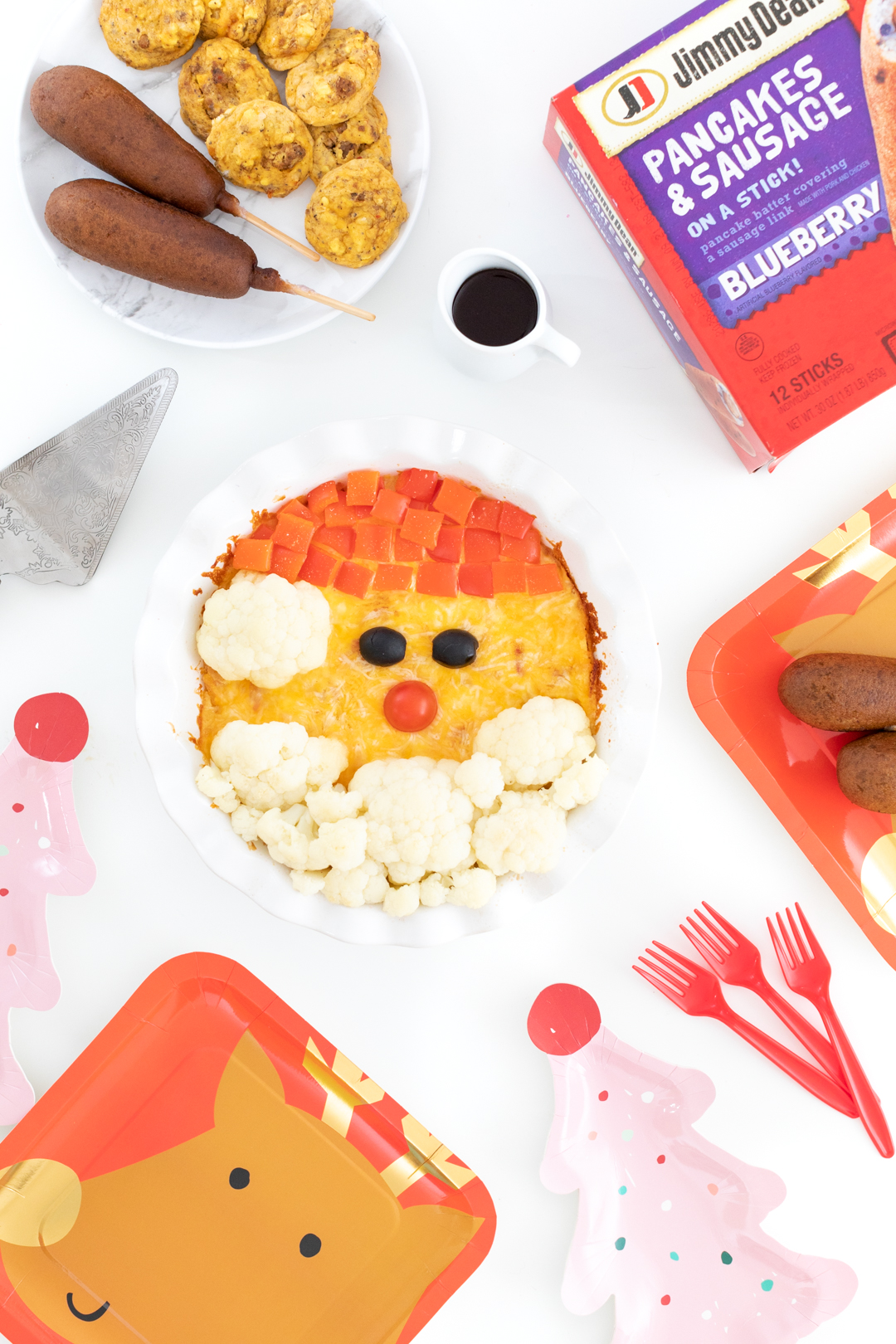 cute santa brunch casserole